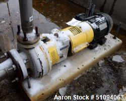 "Used- Sulzer CPT Chemical Centrifugal Pump, Model CPT12-1B, Stainless Steel. Approximate 3"" inlet, 2"" outlet. Driven by a 1...."