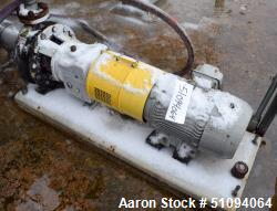 "Used- Sulzer CPT Chemical Centrifugal Pump, Stainless Steel. Approximate 3"" inlet, 2"" outlet. Driven by a 7.5hp, 3/60/208-23..."