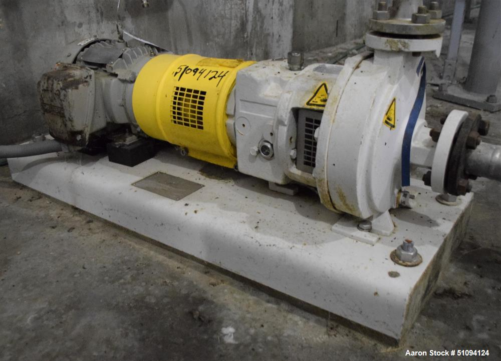 Used-Sulzer CPT Chemical Centrifugal Pump, Model CPT12-1-LF, Stainless Steel. Rated 10 gallons per minute at 85 head at 1770...