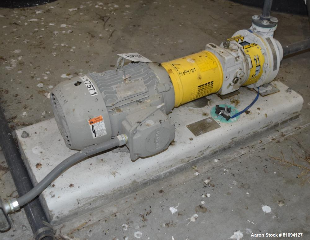 Used-Sulzer CPT Chemical Centrifugal Pump, Model CPT12-1-LF, Stainless Steel. Rated 15 gallons per minute at 250 head at 355...