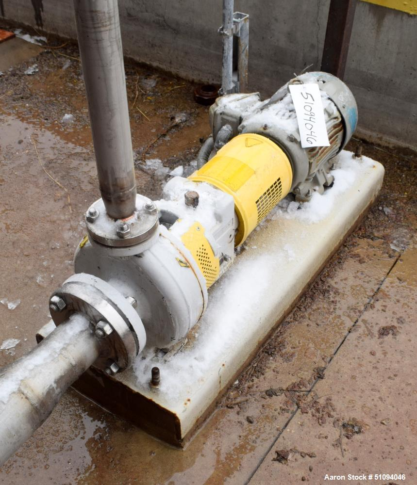 Used- Sulzer CPT Chemical Centrifugal Pump, Model CPT12-1B, Stainless Steel. Rated 50 gallons per minute at 55 head at 1770 ...