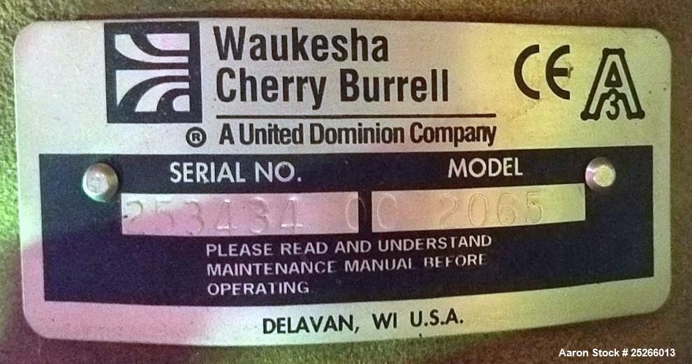 Used- Waukesha Cherry-Burell Centrifugal Pump, Model 2065
