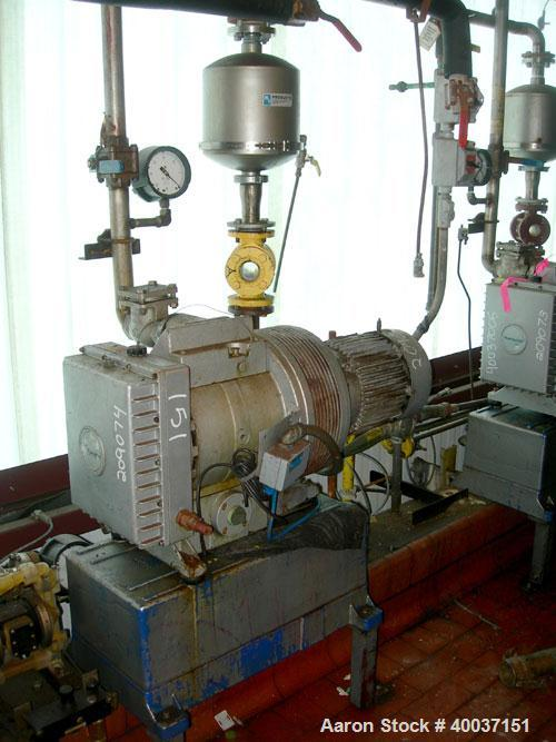 Used-Used: Rietschle oil seal vacuum pump. Type VL-100-(03). Approximately 58.86 cfm at 225 torr. Driven by a 5HP 3/60/230/4...