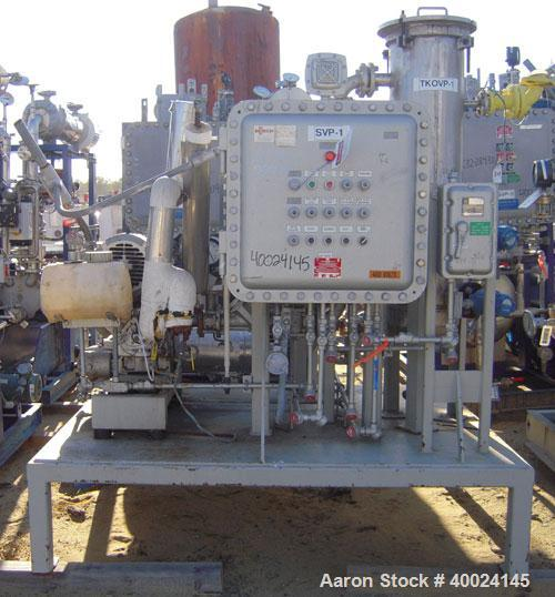 Used- Busch Monovac Single Stage Vacuum Pump, Model 216:002. 113 CFM at 40 Torr. Driven by a 10hp,3/60/230/460 volt, 1755 rp...