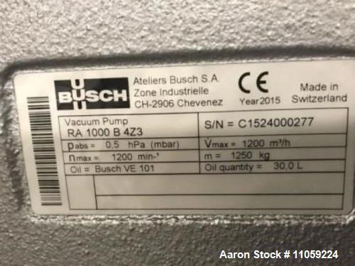 Unused- Busch Vacuum Pump, Model RA 1000 B 4Z3