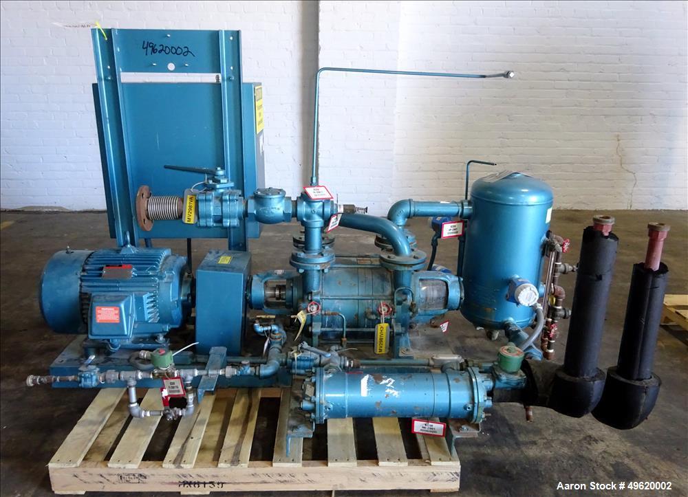 Used- Kinney 2 Stage Liquid Ring Vacuum Pump, Model KLRC-200S, Carbon Steel.
