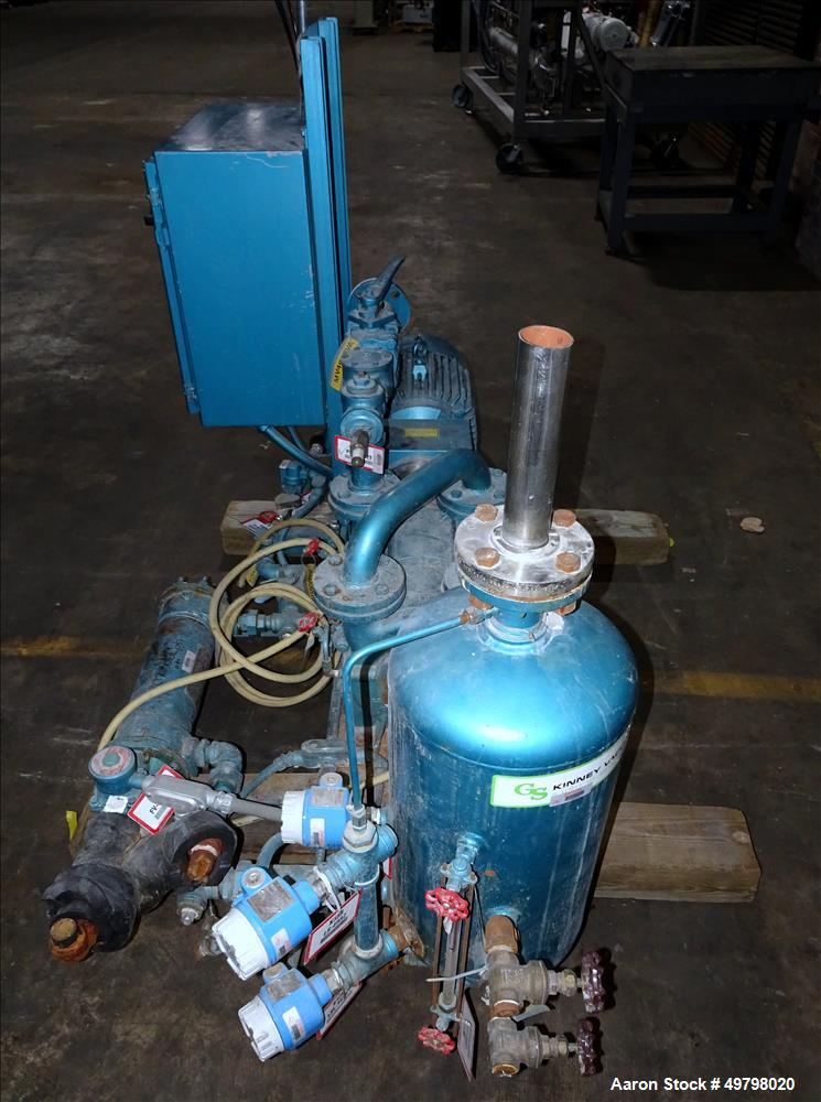Used- Kinney 2 Stage Liquid Ring Vacuum Pump, Model KLRC-200S,