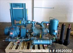 "Used- Kinney 2 Stage Liquid Ring Vacuum Pump, Model KLRC-200S, Carbon Steel. Approximate 200 ACFM at 1750 rpm. 2"" Inlet & ou..."