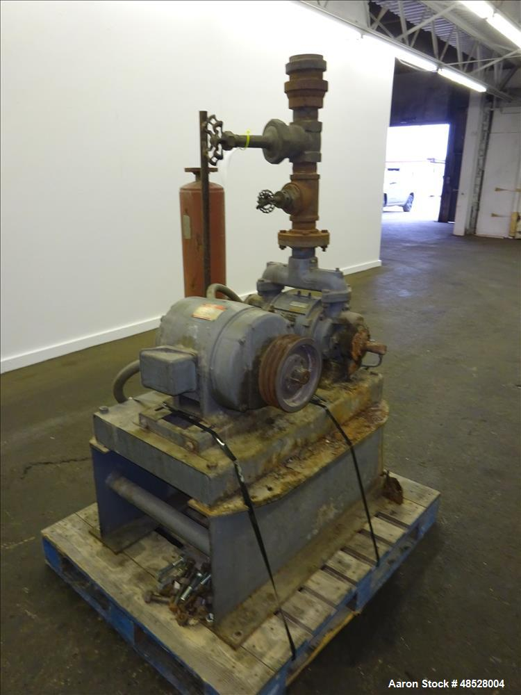 Used- Nash Hytor Vacuum Pump, Size 202, Product Code 14510020200000, Carbon Stee