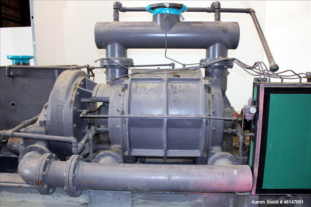 Unused- Nash Main Condenser Exhaust System, Model AT-3400E, Carbon Steel. Consists of: (1) Nash 2 stage liquid ring vacuum p...