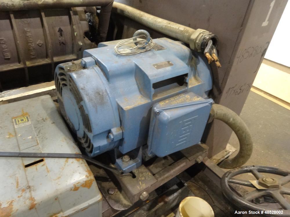 Used- Nash CL Series Liquid Ring Vacuum Pump, Model CL-1002, Carbon Steel.