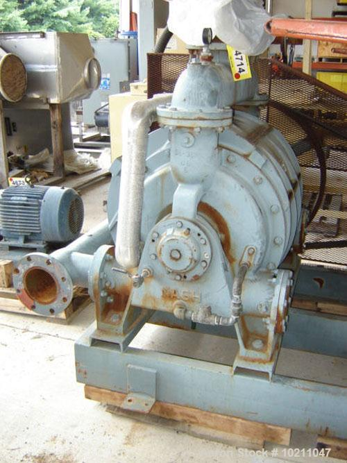 Used-100 HP Cast Iron Nash Vacuum Pump, Model CL-2002, Test #89U0479. Unit is complete with 100 hp, 1770 rpm, 230/460 volt, ...