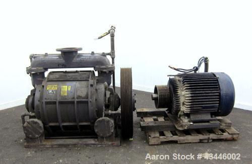 Used- Carbon Steel Nash Liquid Ring Vacuum Pump, Model CL2003