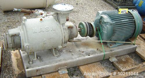 Used-25 HP Nash Model SC4 Series Stainless Steel Vacuum Pump. 25 hp, 230/460 volt, 3 phase, 60 Hz, 1180 rpm, 1.15 S.F., Reli...