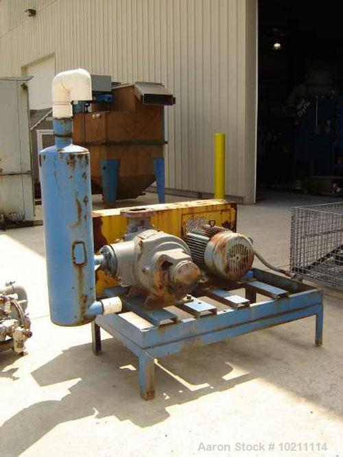 Used-Nash SC4 Vacuum Pump Package, Test #91UO886. Speed 1170 rpm. Pump is cast iron construction with discharge water separa...