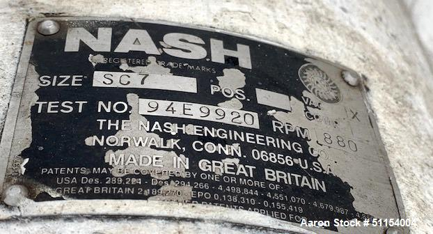 Used- Nash SC Liquid Ring Vacuum Pump, Model SC7