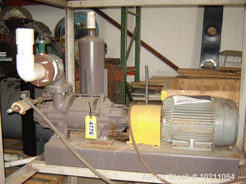 Used-15 HP Nash Vacuum Pump Package Vectra Size XL45. Test number is 02D0034, 1750 rpm, manufactured in Brazil, complete wit...