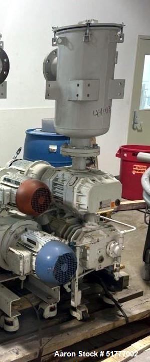 Used- Busch Cobra NC Vacuum Pump Booster System. Consisting of: (1) Busch Cobra screw vacuum pump, model NC 100 B with motor...