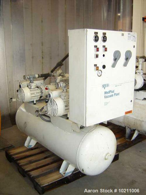 Used-Ohmeda Medplus Duplex Vacuum Plant, type RC0040. Vacuum plant air/oxygen circulator package. Twin vacuum pump system wi...