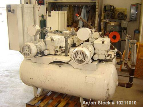 Used-Ohmeda Medplus Duplex Vacuum Plant, type RC0100. Vacuum plant air/oxygen circulator package. Twin vacuum pump system wi...