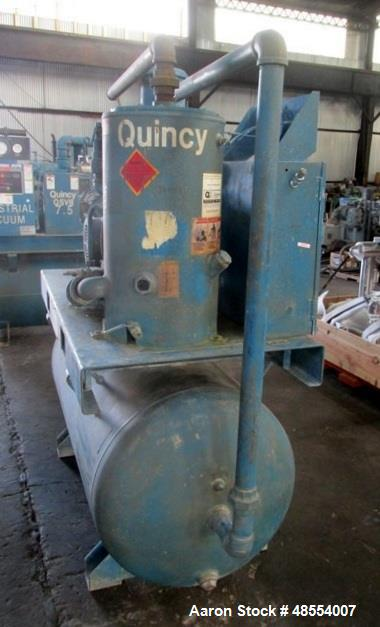 Used- Quincy Vacuum Pump, Model QSVB7.5WNN3C
