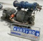 Used- Nash Vacuum Pump, Type CL1003. Approximately 330 cfm at 100 mm hg, carbon steel. Test number 74U2914. 690 rpm. Driven ...