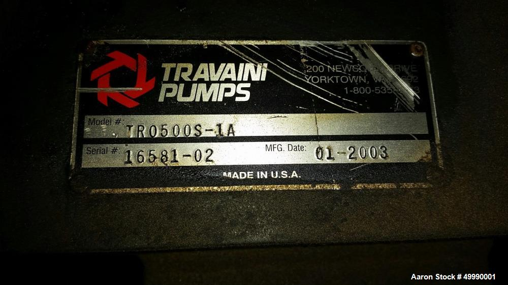 Used- Travaini Model TR0500S-1A Vacuum Pump
