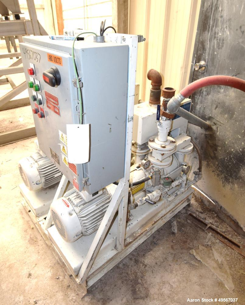 Used- Premier Fluid Systems Vacuum Pump System, Approximate 353 Total CFM, Model TRW-200V-DPR. Consists of (2) Travaini liqu...