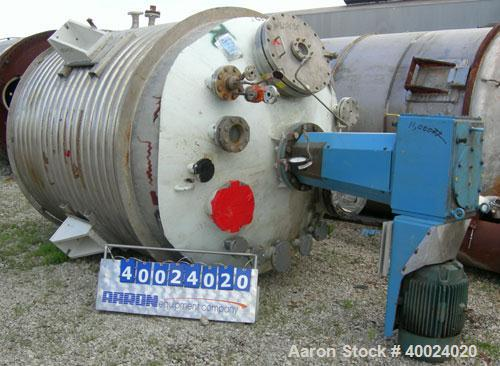 """Used- Alloy Fab Reactor, 2000 gallon, Hastelloy C22, vertical. 78"""" diameter x 84"""" straight side, 2:1  elliptical top and bot..."""