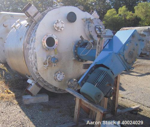 "Used- Alloy Industries Reactor, Approximately 2000 gallon, Hastelloy C22, vertical. 78"" diameter x 7' straight side, ellipti..."