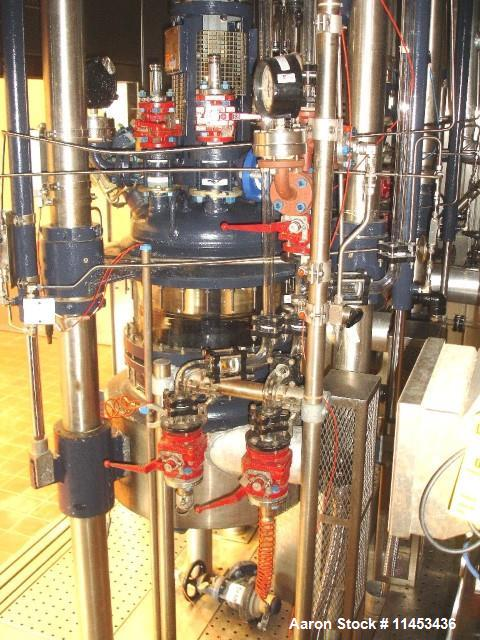 Used-Used 70 liter R & M Italia glass reactor train with 70 liter glass lined reactor, removable dish top, dish bottom, inte...
