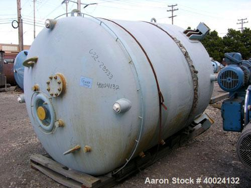 "Used- Reglassed Dedietrich Glass Lined Reactor, 2000 gallon, 3009 white glass with calibration lines. Approximately 76"" diam..."