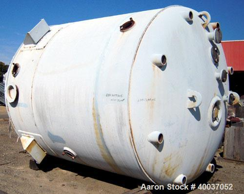 """Used- DeDietrich Glass Lined Reactor, 5000 gallon, 9115 glass. Approximately 108"""" diameter x 118"""" straight side, dish top an..."""