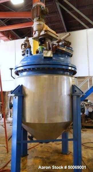 Used- De Dietrich FTJ Bolt Top Glass Lined Reactor, 300 Gallon
