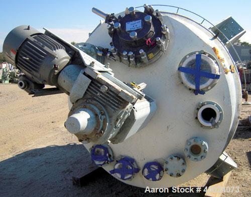 "Used: Pfaudler K Series Glass Lined Reactor, 2000 gallon, 9129 white glass, model KC-78-2000-100-90. 78"" diameter x 84"" stra..."