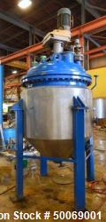Used- De Dietrich FTJ Bolt Top Glass Lined Reactor, 300 Gallon
