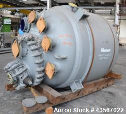 Used- Pfaudler Type E3000 Glass Lined Reactor, 3000 Liter (792.75 Gallon)