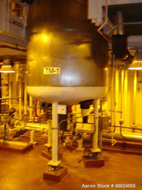 "Used: Pfaudler K Series Glass Lined Reactor, 500 gallon, 9129 white glass, model KC-48-500-100. 48"" diameter x 58"" straight ..."