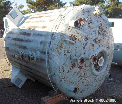 Used- Pfaudler K Series Glass Lined Dual Rated, Lethal Service Reactor, 1000 gallon, 9129 white glass, model KC-60-1000-100-...