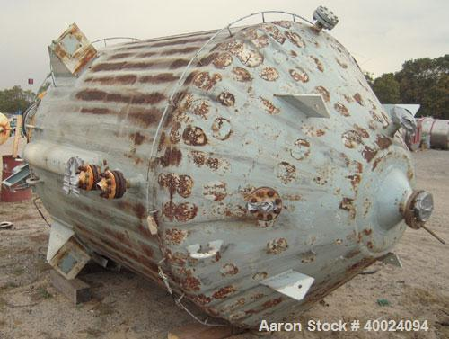 Used- 2000 Gallon Pfaudler K Series Glass Lined Reactor, Model KC-78-2000-100-90