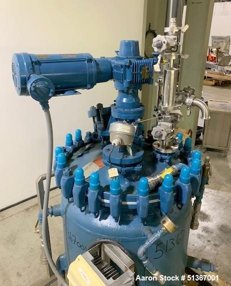 Used- Pfaudler Glass Lined Reactor, 50 Gallons