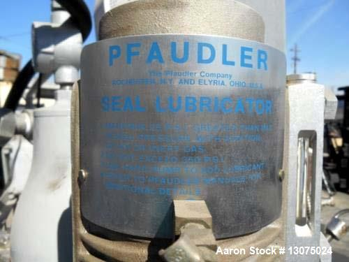 Used- 200 Liter Pfaudler Glass-Lined Reactor. Interior pressure rated for 100 PSI at 450 degrees. Jacket rated for 95 PSI at...