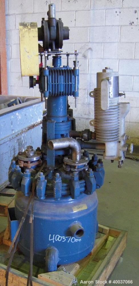 Used- 20 Gallon Pfaudler Glass Lined Clamp Top Reactor