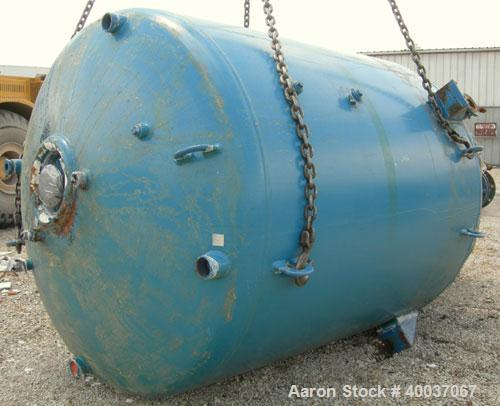 "Used: Pfaudler glass lined reactor, 2000 gallon, 5015 blue glass, RA series,vertical. Approximately 76"" diameter x 84"" strai..."