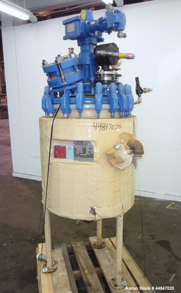 Used- 30 Gallon Pfaudler Clamp Top Glass Lined Reactor