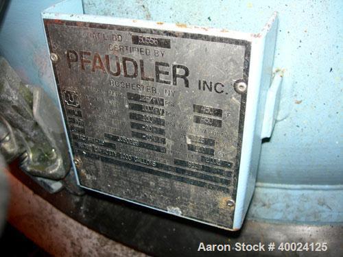 "Used- Pfaudler K Series Glass Lined Reactor, 1000 Gallon, 9129 White Glass, Model RS-60-1000-125-100. 60"" Diameter x 72"" str..."