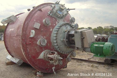 Used- Dedietrich SA Glass Lined Lethal Service Reactor, 3000 gallon, 3009 white glass with calibration lines. Approximately ...