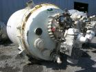 Used- Pfaudler Glass Lined Reactor, 2000 gallon, 3009 white glass with calibration lines. Approximately 76