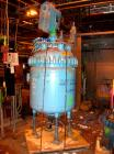 Used: Pfaudler glass lined clamp top reactor, 100 gallon, 5015 glass, vertical. Approximately 36