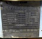 Used- Pfaudler Clamp Top Glass Lined Reactor, 50 Gallons